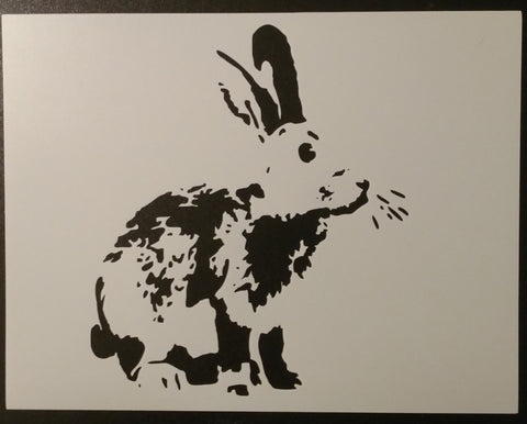 Detailed Bunny Rabbit Stencil