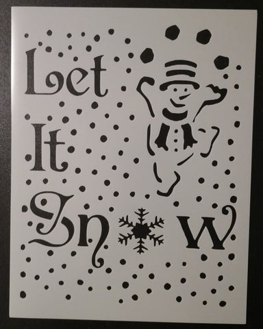 Let It Snow - Stencil