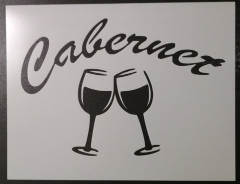 Cabernet Wine Glasses - Stencil