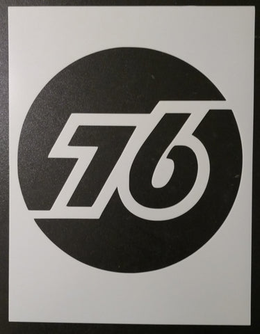 76 Gas Station Sign - Stencil