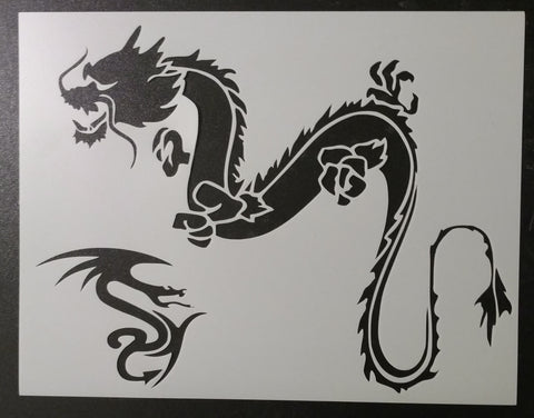 Chinese Dragon - Stencil