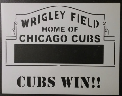 Chicago Cubs Wrigley Field Marquee - Stencil