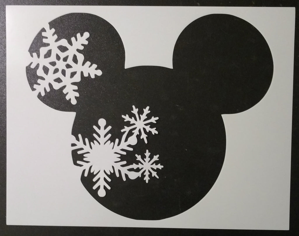 Winter Mickey Mouse - Stencil
