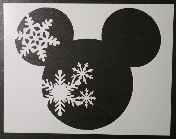 "Mickey Mouse Seasons - 4-Stencil Set / Spring Summer Winter Fall 11"" x 8.5"" Stencils"