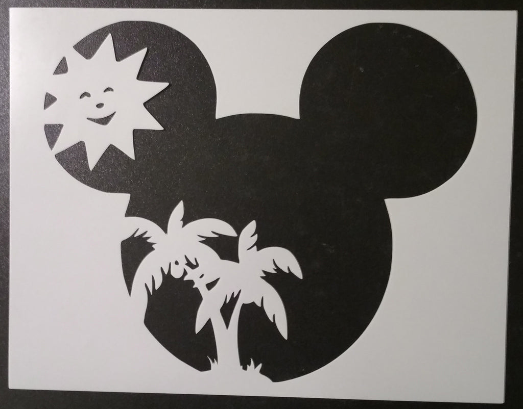 Summer Mickey Mouse - Stencil