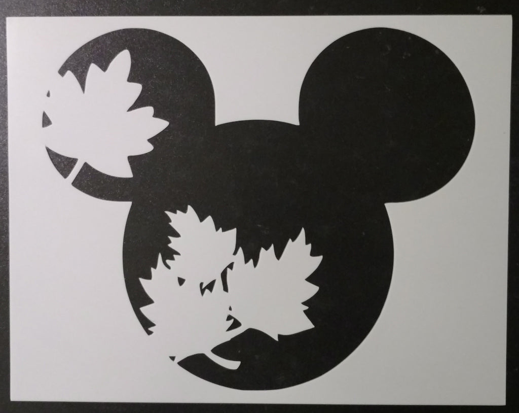 Fall Mickey Mouse - Stencil