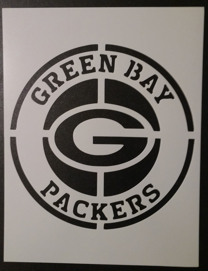 Round Green Bay Packers - Stencil