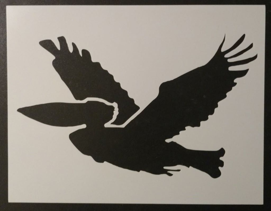 "Flying Pelican 11"" x 8.5"" Stencil"