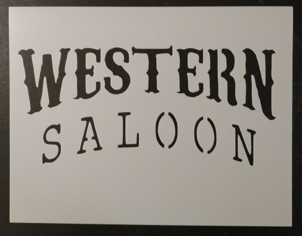 Western Saloon Sign - Stencil