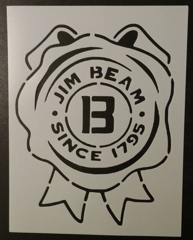 Jim Beam Ribbon Label - Stencil