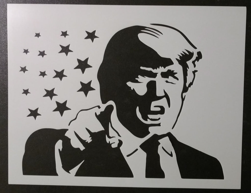 Donald Trump President Pointing - Stencil