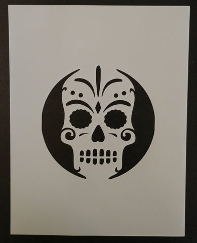 Day of the Dead Sugar Skull - Stencil