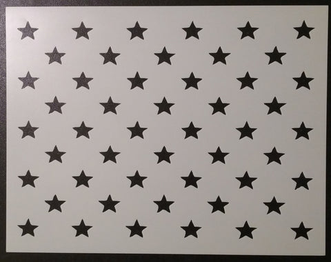 50 Stars Flag Star Pattern - Stencil