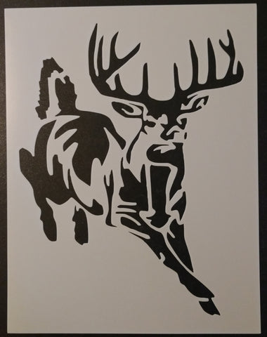Buck White-Tailed Deer Hunting - Stencil