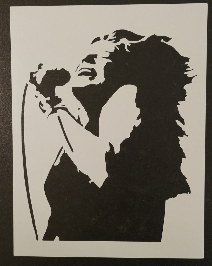 Rock N Roll Singing Girl Singer - Stencil