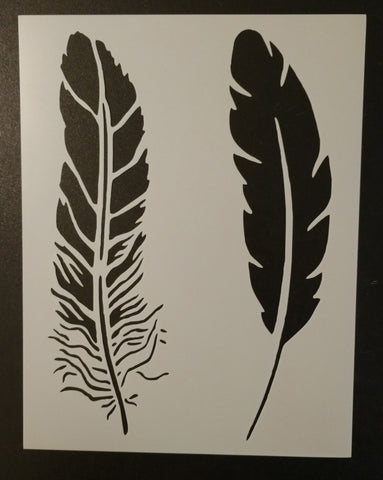 Large Feathers - Stencil