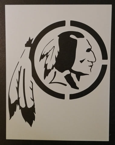 Washington Redskins Indian Chief - Stencil