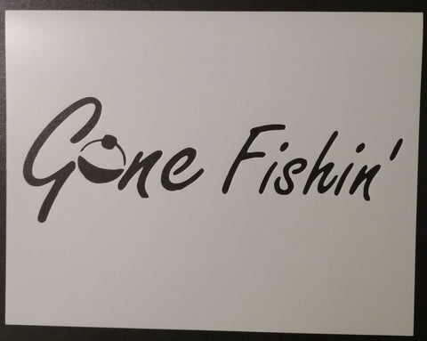 Gone Fishing Fishin Bobber - Stencil