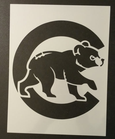Chicago Cubs Bear Cub - Stencil