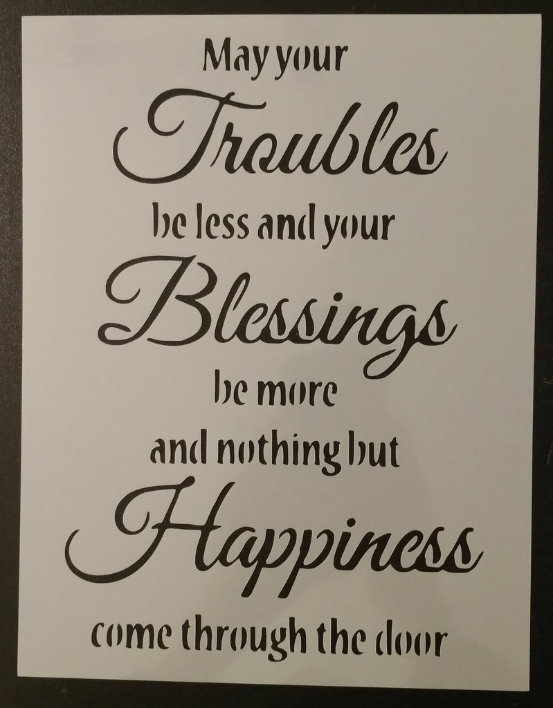 Irish Blessing - Stencil