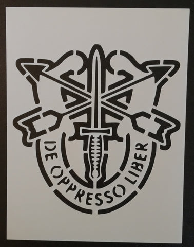 Army Special Forces Crest - Stencil