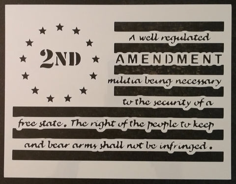 2nd Amendment Guns Gun Right To Bear Arms Flag Custom Stencil