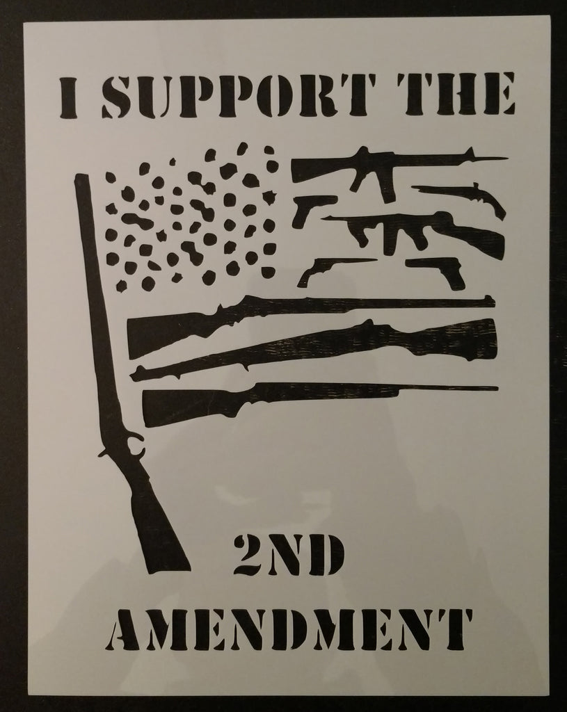 2nd Amendment Flag Guns Gun Right To Bear Arms Custom Stencil