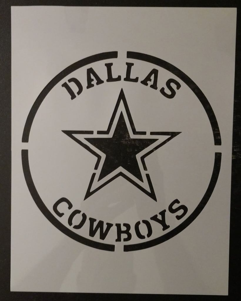 Dallas Cowboys Round Emblem Custom Stencil