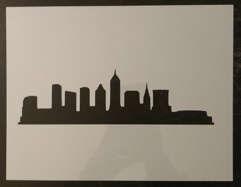City of Cleveland Skyline - Stencil