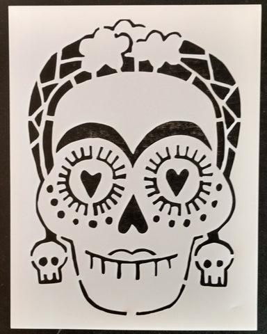 Day of the Dead / Dia de los Muertos / Female Sugar Skull Custom Stencil