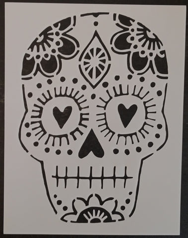 Day of the Dead / Dia de los Muertos / Male Sugar Skull Custom Stencil