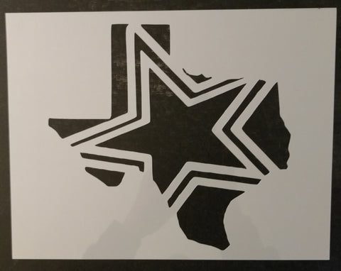 State of Texas Dallas Cowboys Star Custom Stencil