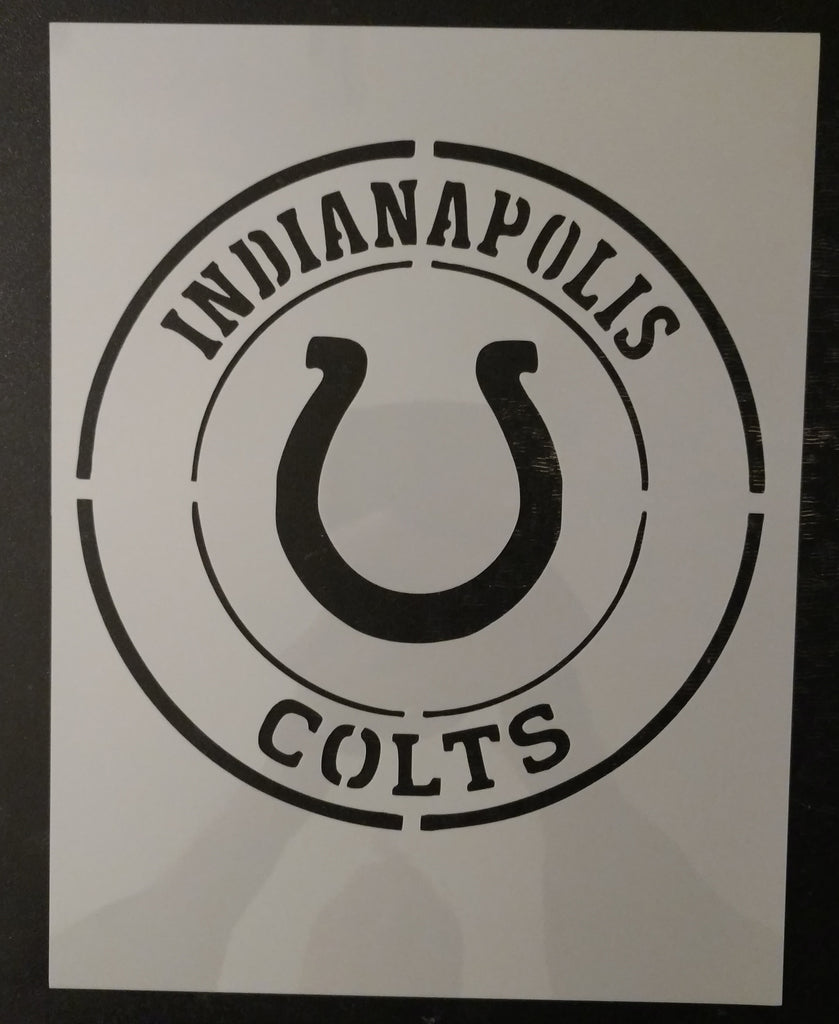 "Indianapolis Colts 8.5"" x 11"" Custom Stencil"