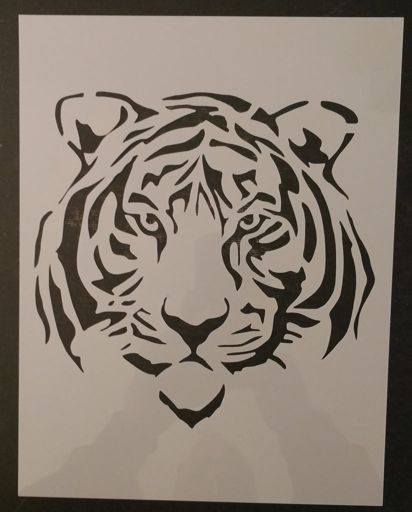 Tiger Face Custom Stencil