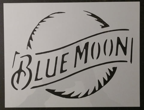 Beer Blue Moon Custom Stencil