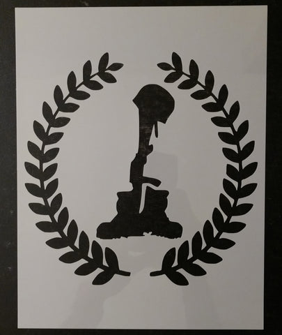 Battlefield Battle Cross Gun Rifle Boots Helmet Custom Stencil