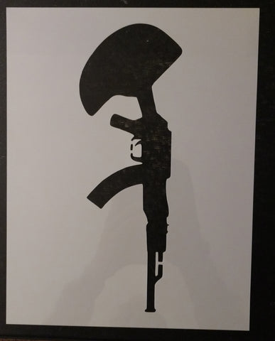 Battlefield Battle Cross Gun Helmet Custom Stencil