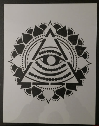 3rd Third Eye Pyramid Chakra Yoga Chakras Custom Stencil
