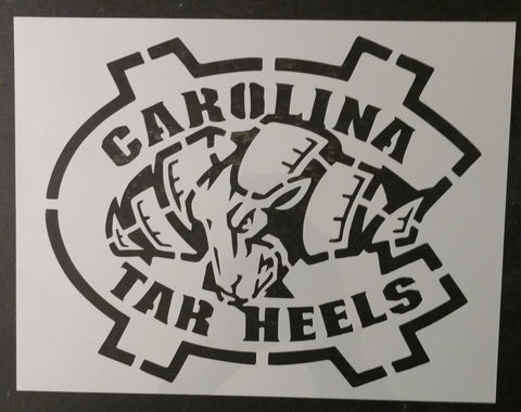 UNC North Carolina Tar Heels Ram Custom Stencil