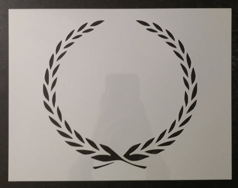 Cadillac Leaf Leaves Wreath Border Symbol Custom Stencil