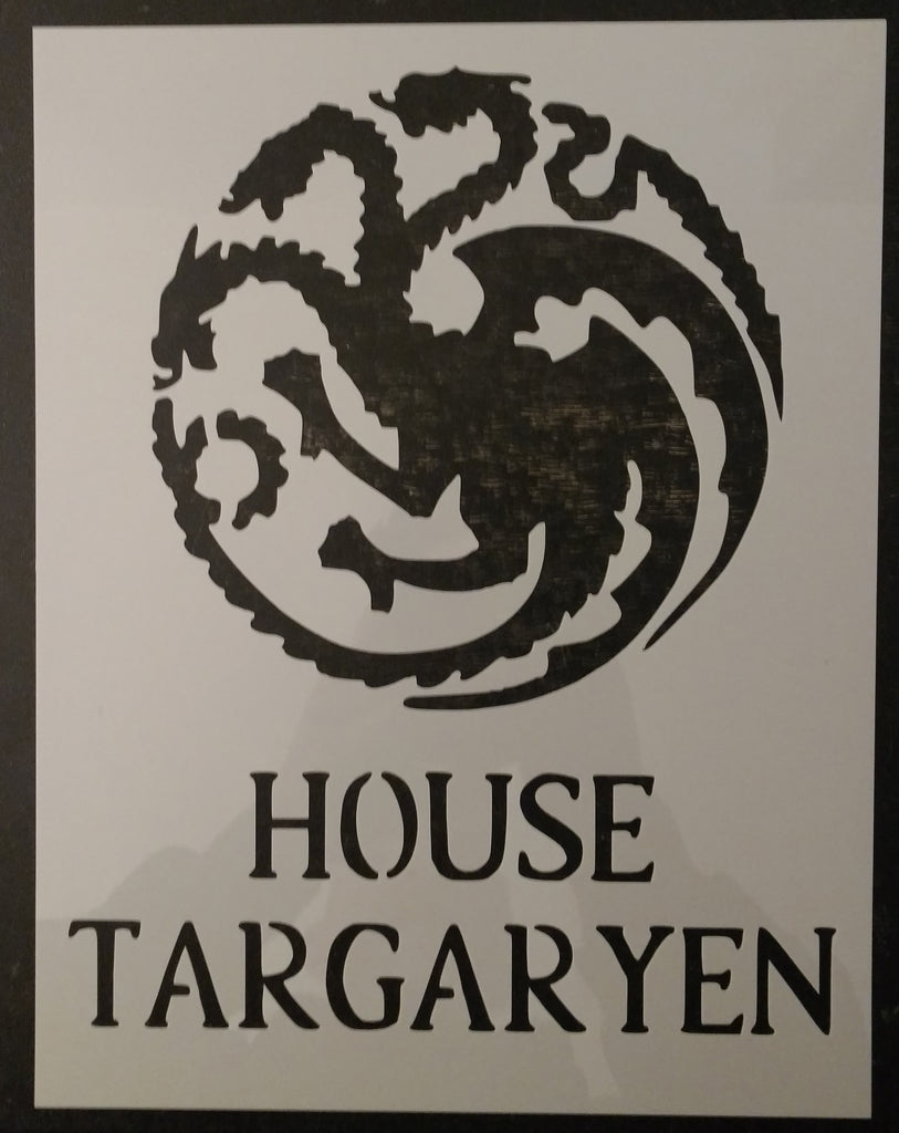 GOT Game of Thrones House Targaryen Custom Stencil