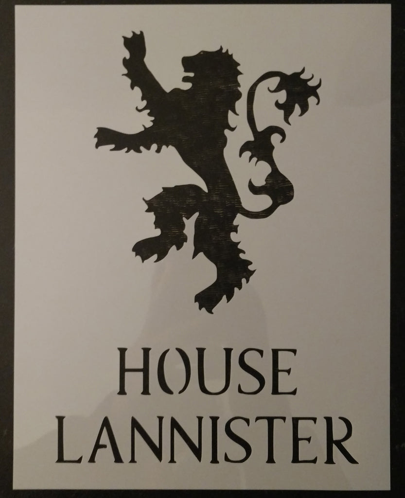GOT Game of Thrones House Lannister Custom Stencil