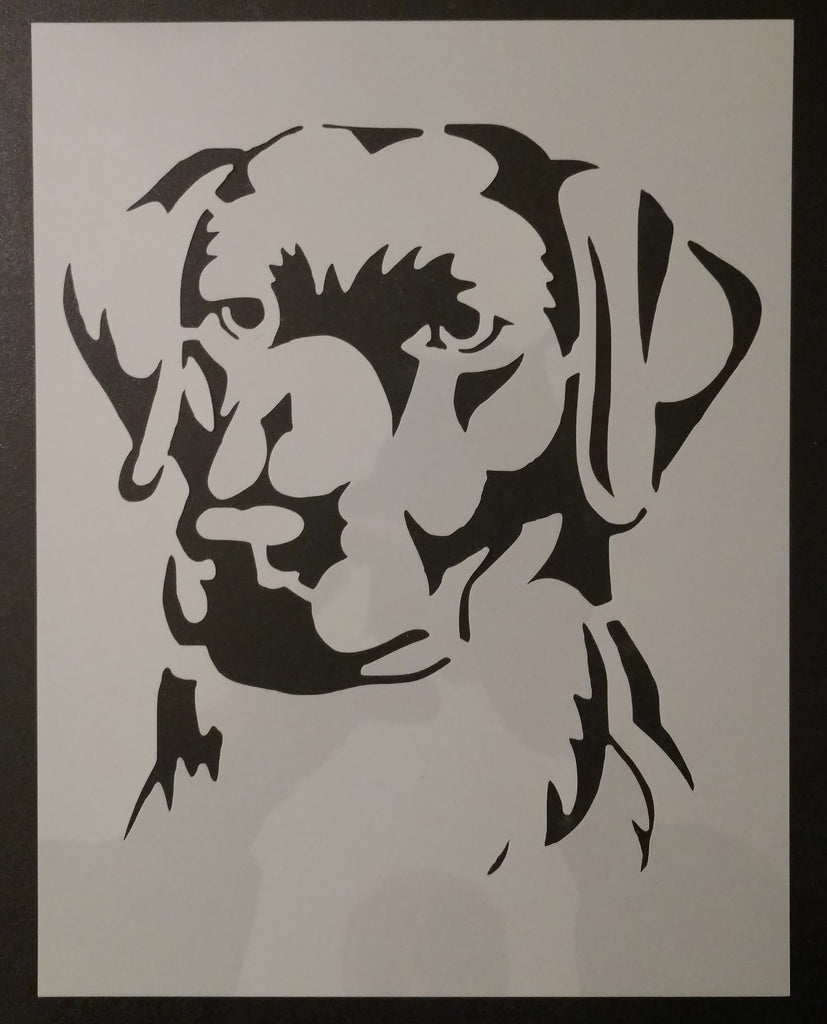 Labrador LAB Golden Retriever Dog Custom Stencil