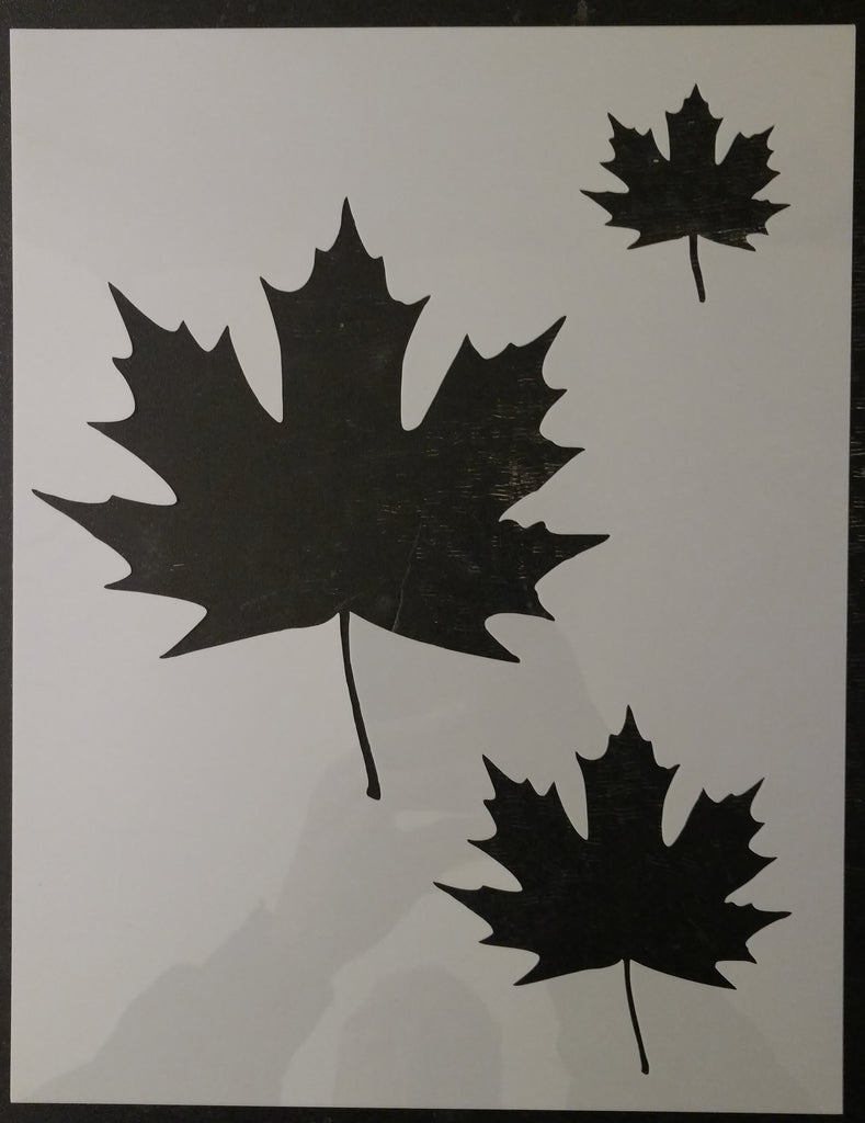 Maple Leaf Maple Leaves Home Decor Custom Stencil