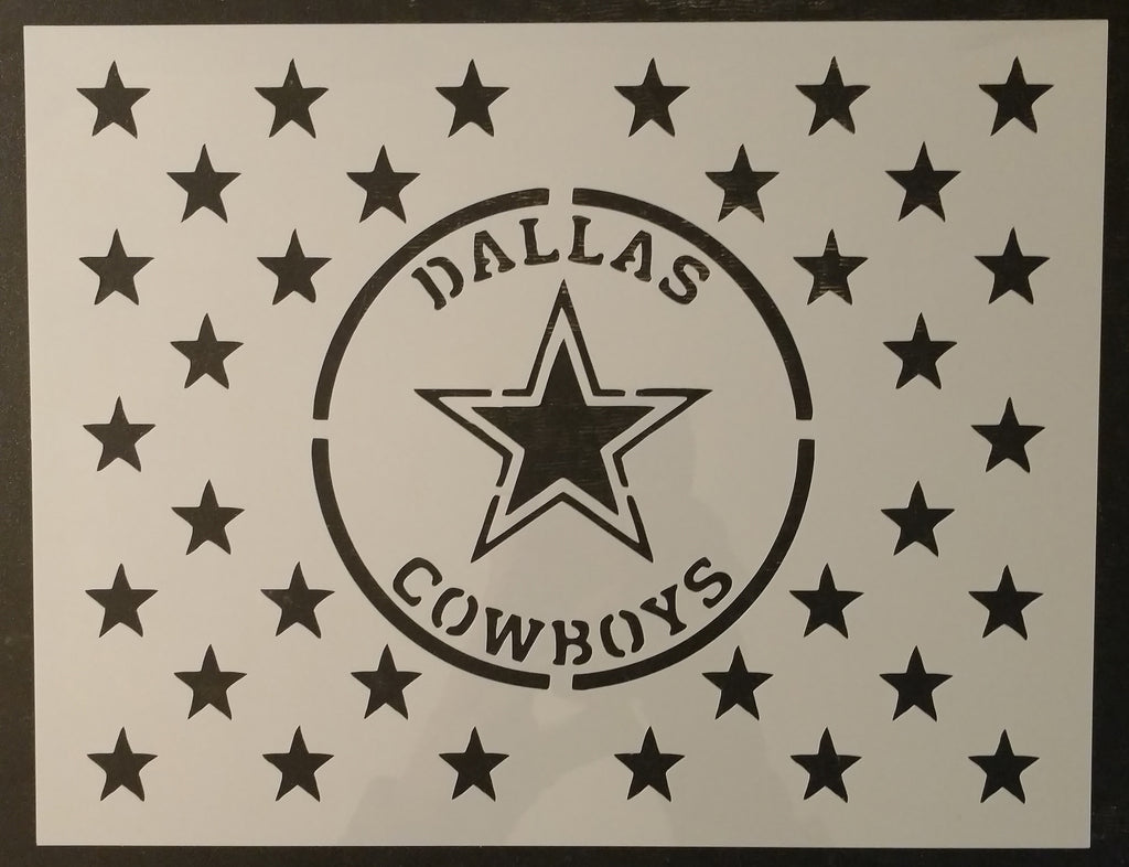 Dallas Cowboys Star Flag Custom Stencil