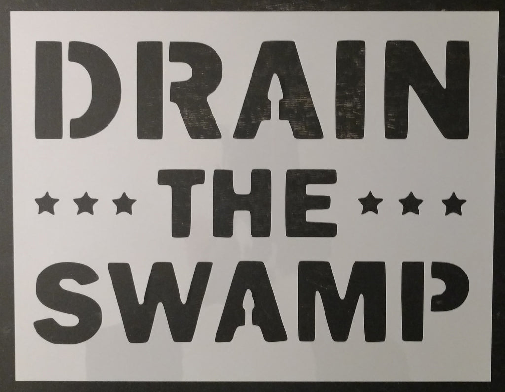 Trump Drain The Swamp MAGA Custom Stencil