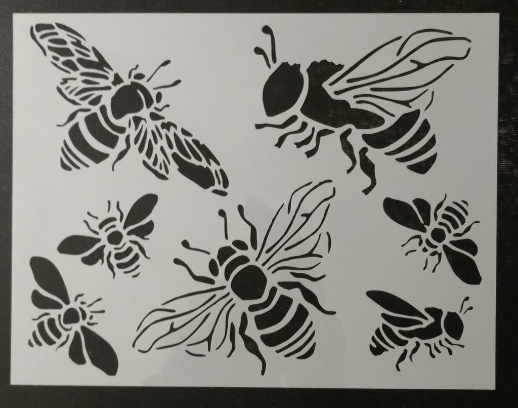 Honey Bee Bumble Bees Custom Stencil