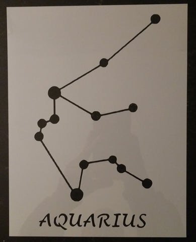 Aquarius Star Sign Zodiac Custom Stencil