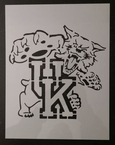Wildcats UK University Kentucky Custom Stencil