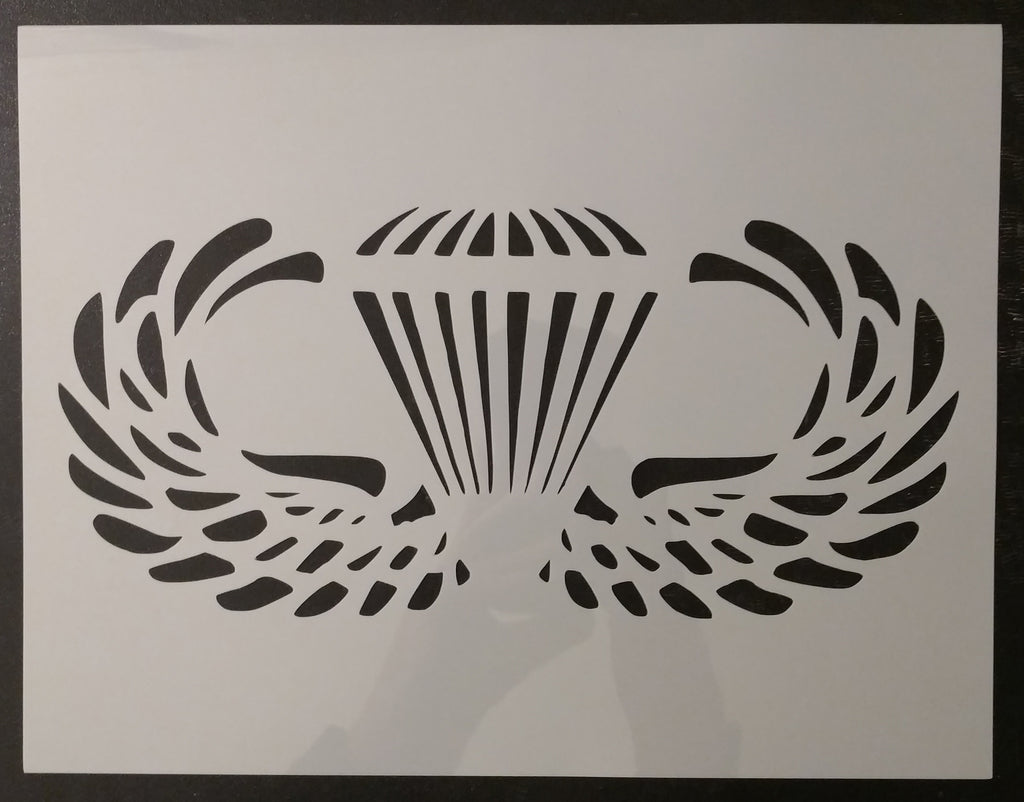 Military Parachutist Paratrooper Badge Custom Stencil